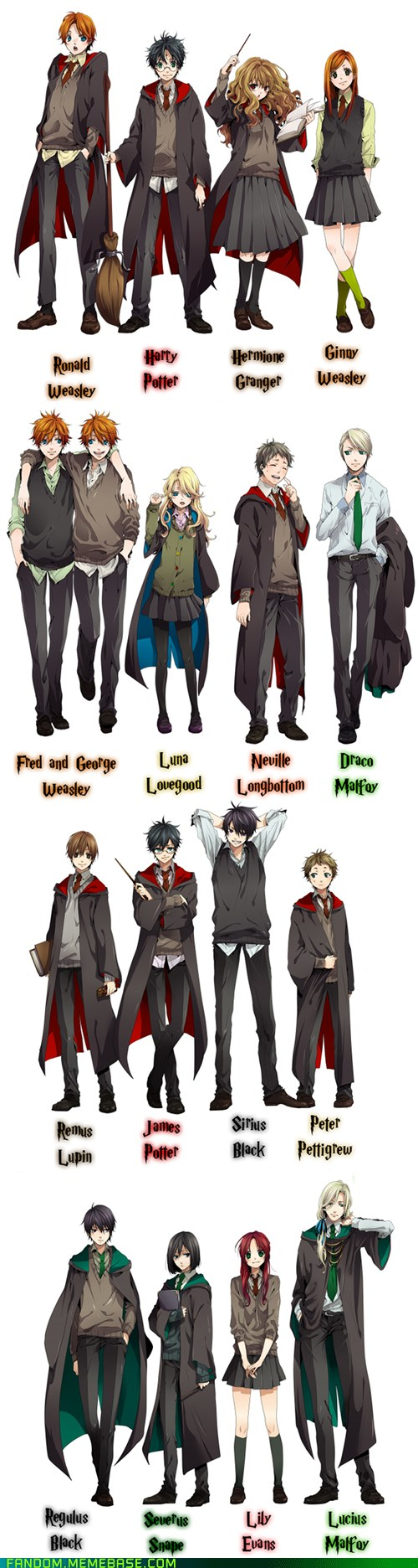 Fanart-cosplay-harry-potter-manga